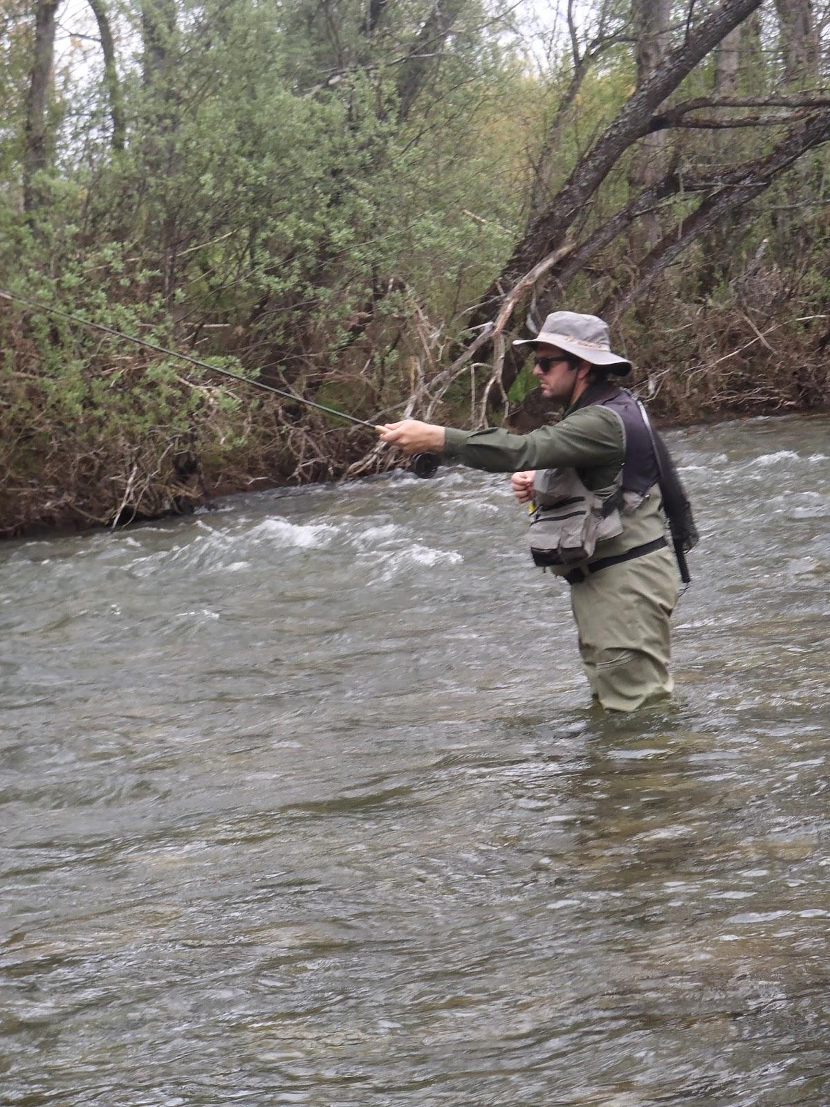 Pescando con Javier Reyero